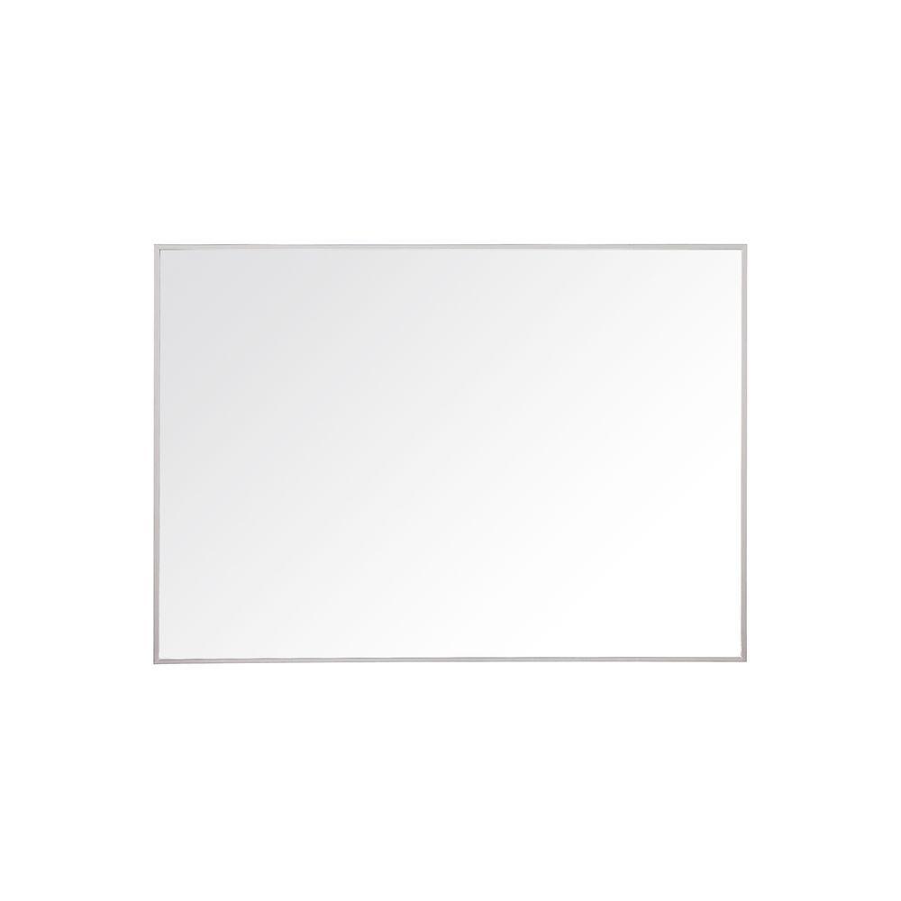 Avanity Sonoma 28 in. L x 39 in. W Framed Wall Mirror in Nickel