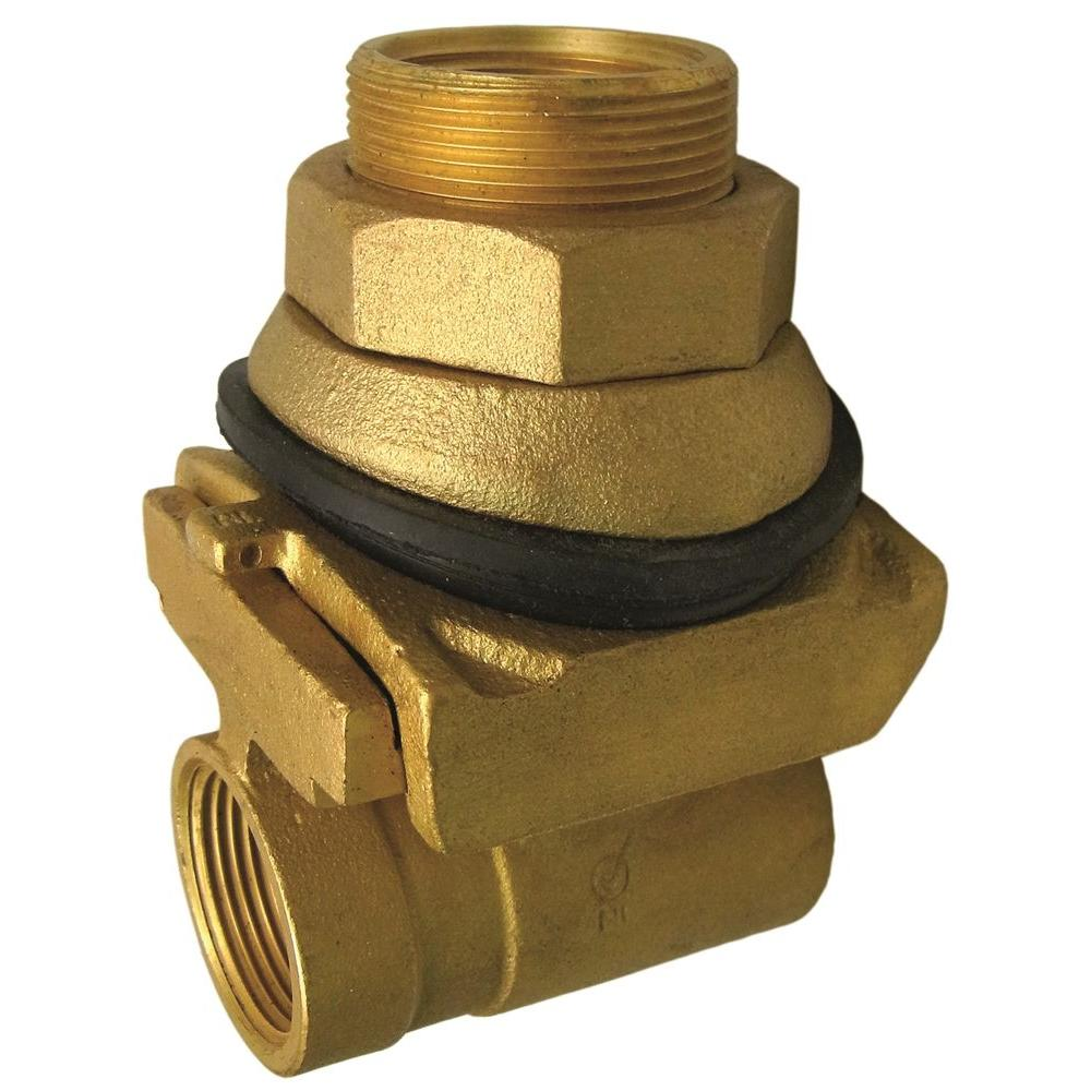 Everbilt 1 In Brass Pitless Adapter Ebpa100nl The Home Depot