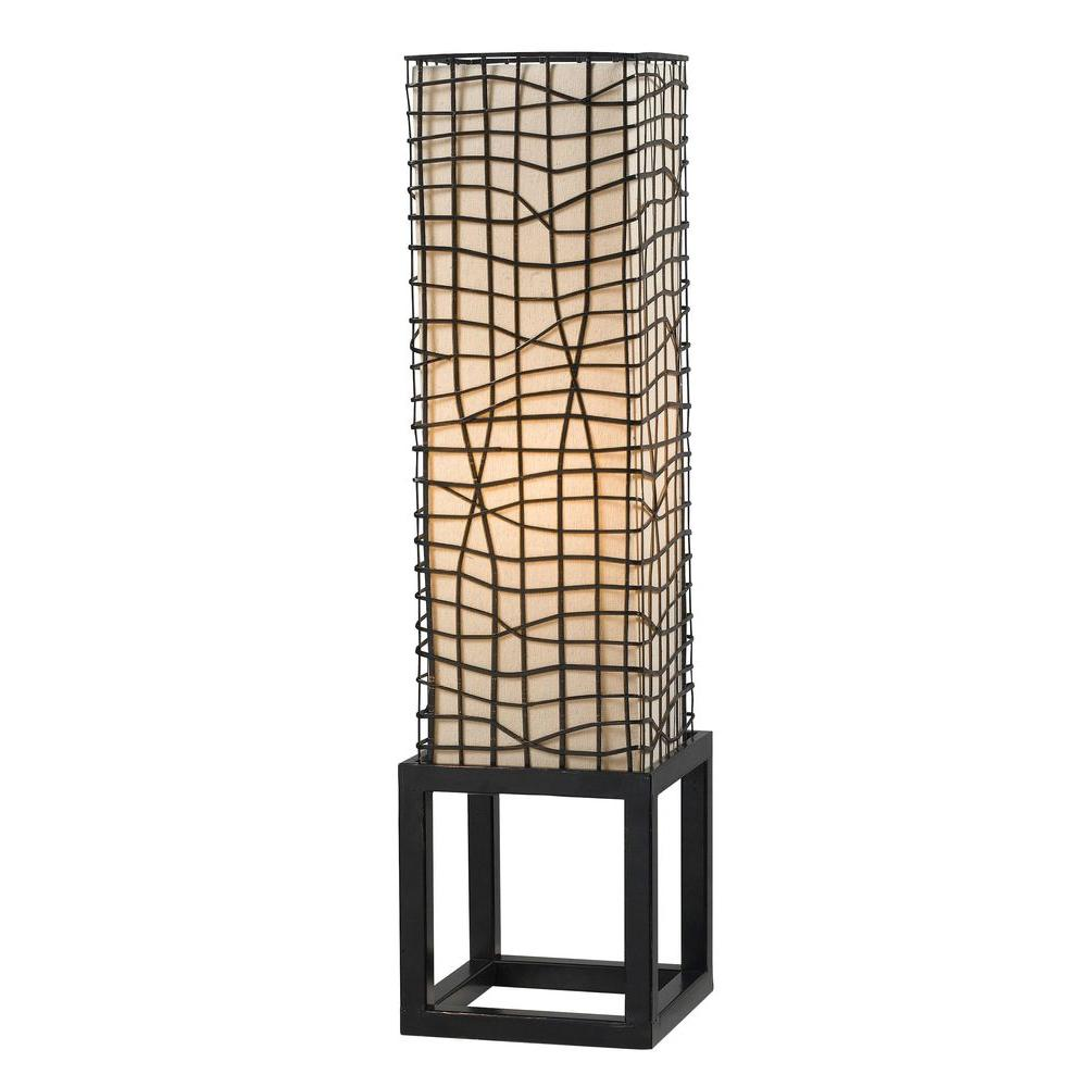 Kenroy Home Fortress 28 in. Bronze Table Lamp