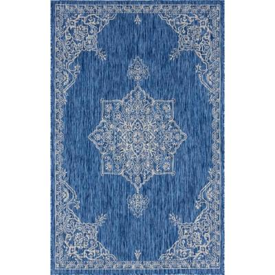 Blue Antique Outdoor 9 ft. x 12 ft. Area Rug