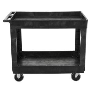 Rubbermaid Commercial Products 40 inch x 24 inch 2-Shelf Heavy Duty Utility Cart with 4 inch Casters by Rubbermaid Commercial Products
