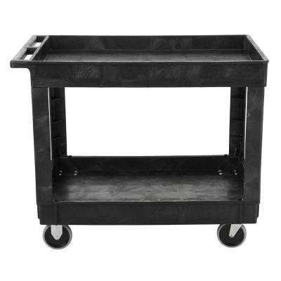 40 in. x 24 in. 2-Shelf Heavy Duty Utility Cart with 4 in. Casters