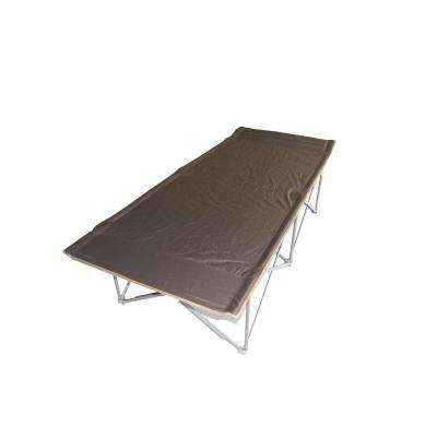 Oversized 74 in. L Gray Padded Trim Camping Cot