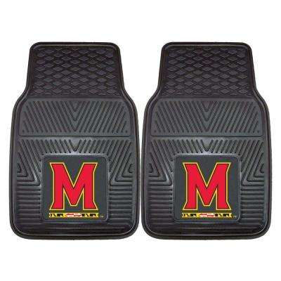 University of Maryland 18 in. x 27 in. 2-Piece Heavy Duty Vinyl Car Mat