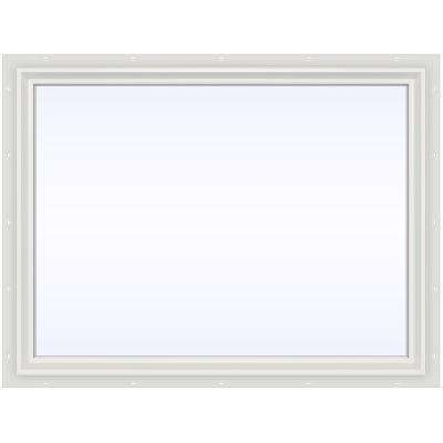47.5 in. x 35.5 in. V-2500 Series Fixed Picture Vinyl Window - White