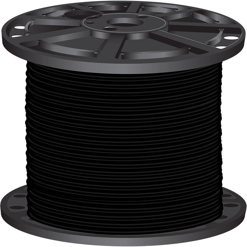 Southwire 500 ft. 4 Black Stranded CU SIMpull THHN Wire