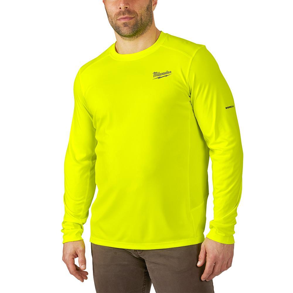 Men's Large Hi-Vis GEN II WORKSKIN Light Weight Performance Long-Sleeve T-Shirt