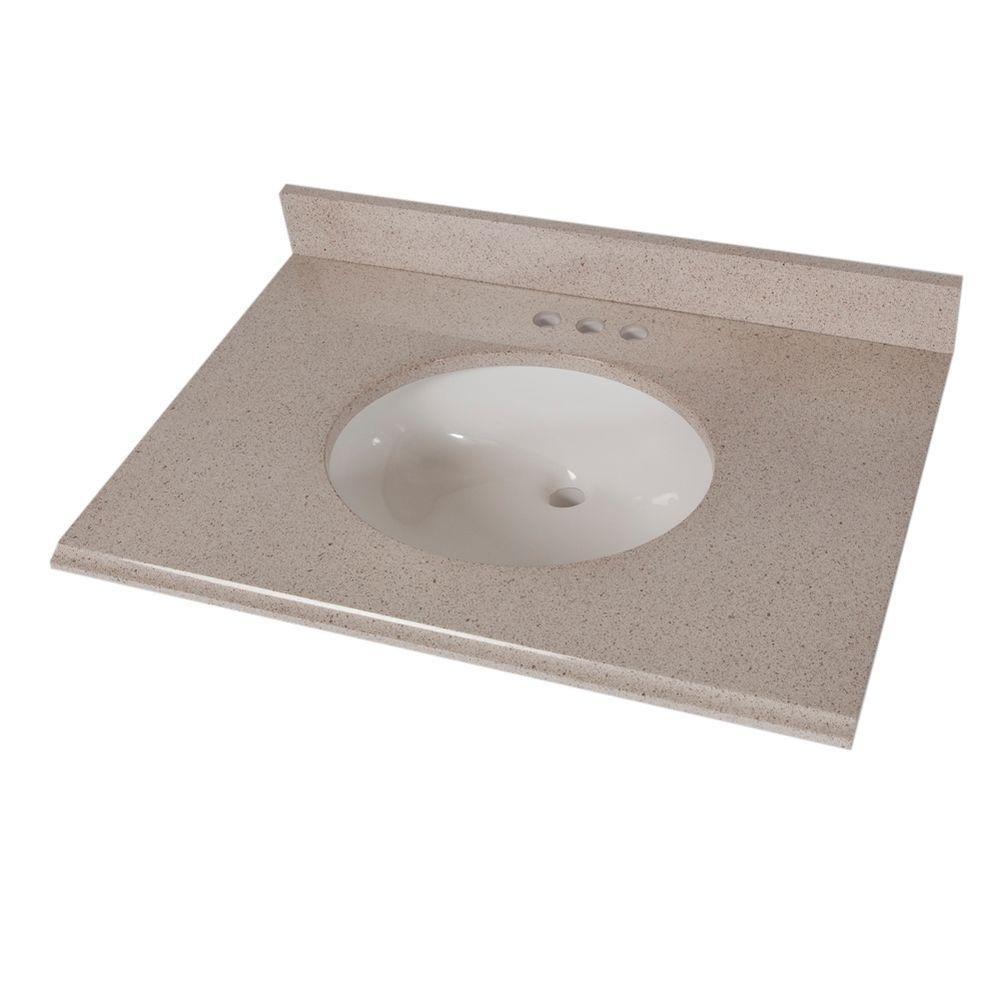 Superieur St. Paul 31 In. X 22 In. Colorpoint Vanity Top In Maui