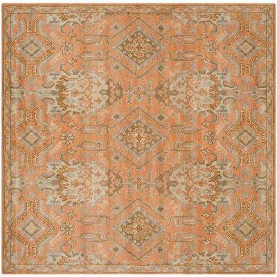 Wyndham Terracotta 7 ft. x 7 ft. Square Area Rug
