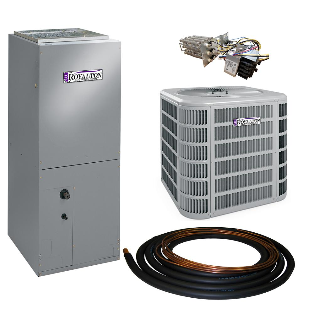 ROYALTON 2 Ton 14 SEER Residential Split System Electric Heat Pump System with Heat Kit