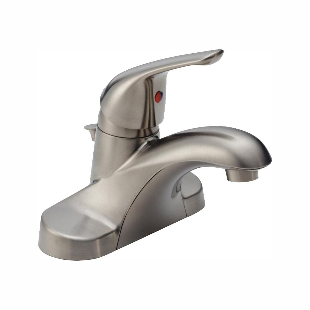 Delta Foundations 4 in. Centerset Single-Handle Bathroom Faucet in Brushed Nickel