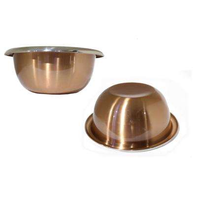 2.75 Qt. Heavy Duty Stainless-Steel Mixing Bowl Easy Grip Handles Copper