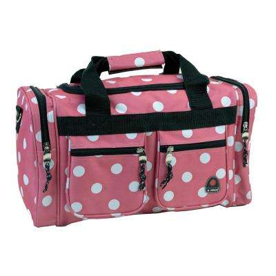 Rockland Freestyle 19 in. Tote Bag, Pink dot