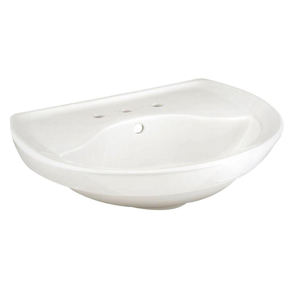 American Standard Ravenna 6 in. Pedestal Sink Basin in White
