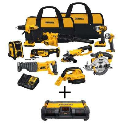 20-Volt Max Lithium Ion Cordless Combo Kit with Bonus ToughSystem Radio/Charger with Bluetooth (10-Tool)