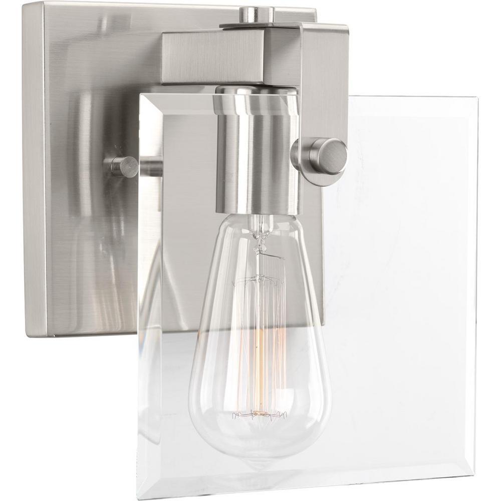Glayse Collection 1-Light Brushed Nickel Bath Light