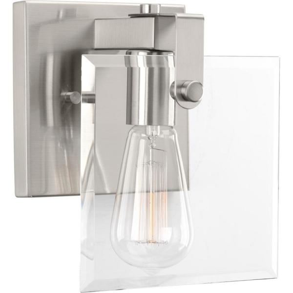 Glayse Collection 1-Light Brushed Nickel Bath Light