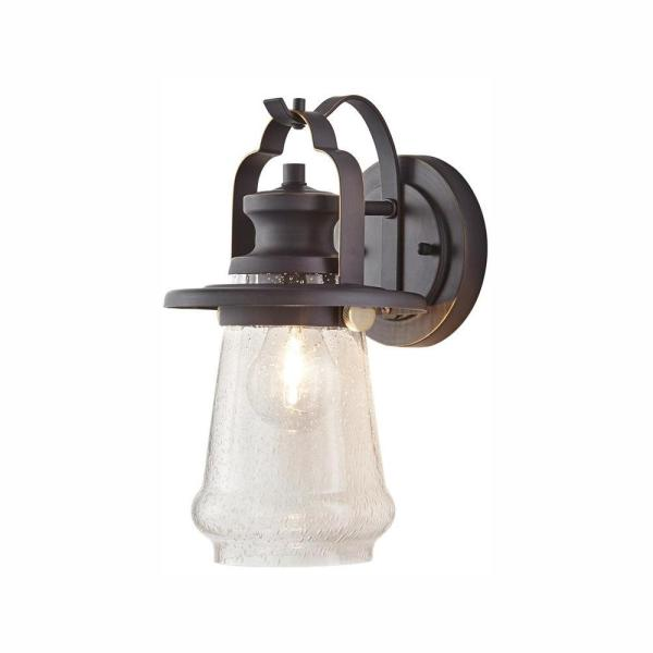 Home Decorators Collection 1-Light Bronze and Antique Brass  Wall Lantern Sconce