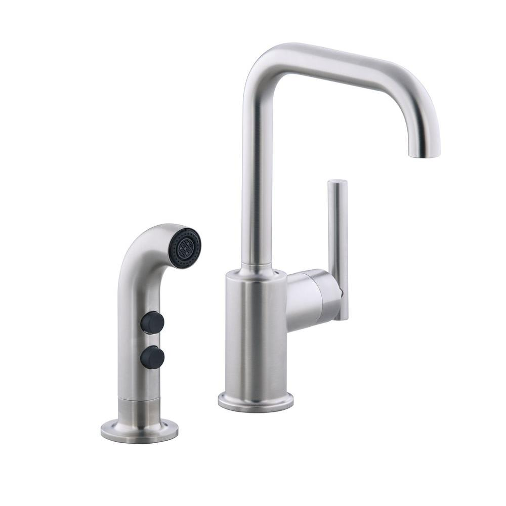 faucets full spray review gold purist s size faucet side of kitchen single kohler k