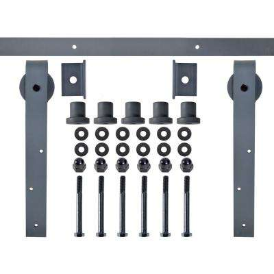 96 in. 800 lbs. Classic Bent Strap Barn Style Sliding Door Track and Hardware Set