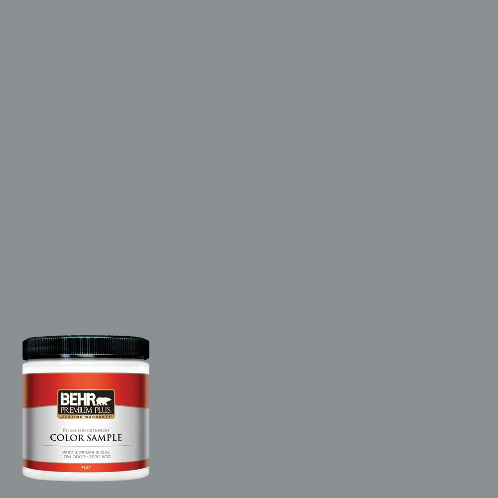 8 oz. #MQ5-29 Gotham Gray Flat Interior/Exterior Paint and Primer in