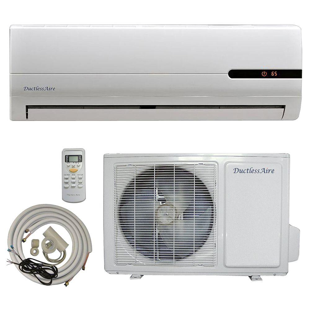 DuctlessAire 18,000 BTU 1.5 Ton Ductless Mini Split Air Conditioner and Heat Pump - 220V/60Hz with 23 ft. Complete Kit