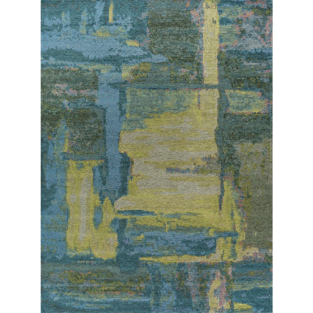 Tayse Rugs Dynasty Blue And Yellow 3 Ft X 5 Contemporary Area Rug