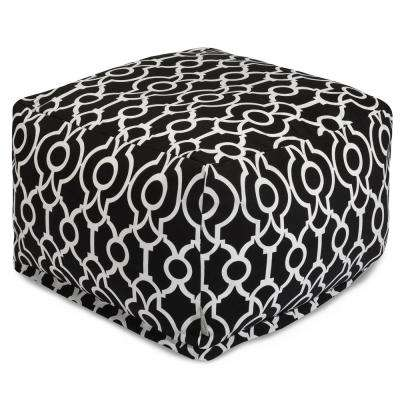 Black Athens Indoor/Outdoor Ottoman Cushion