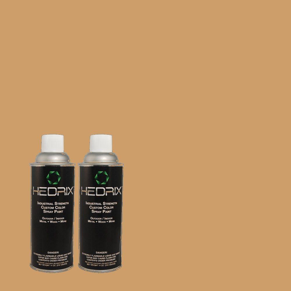 Hedrix 11 oz. Match of 383 Mojave Sand Gloss Custom Spray Paint (2-Pack)