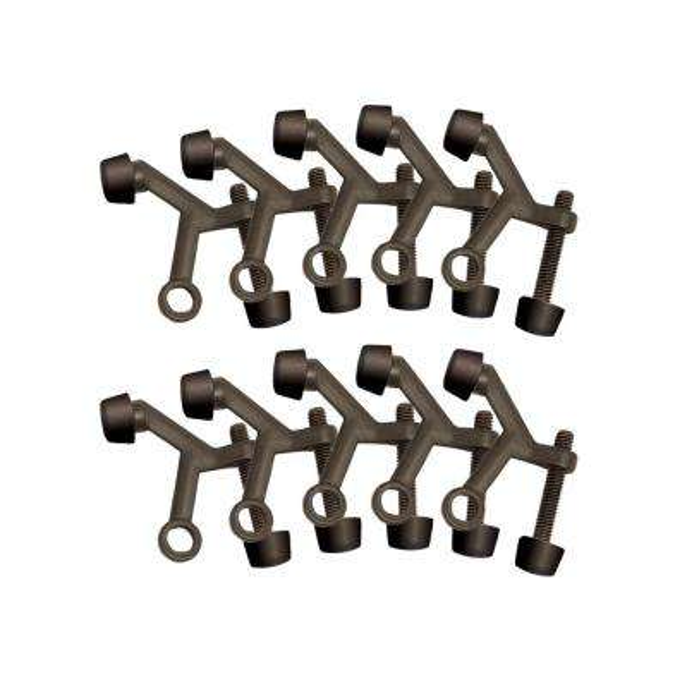 2-1/8 in. x 1-3/4 in. Oil Rubbed Bronze Standard Hinge Pin Door Stop Value Pack (10 per Pack)