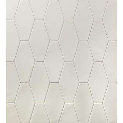 Birmingham Hexagon Dove Gray 4 in. x 8 in. 8mm Polished Ceramic Subway Tile (5.38 sq. ft. / box)