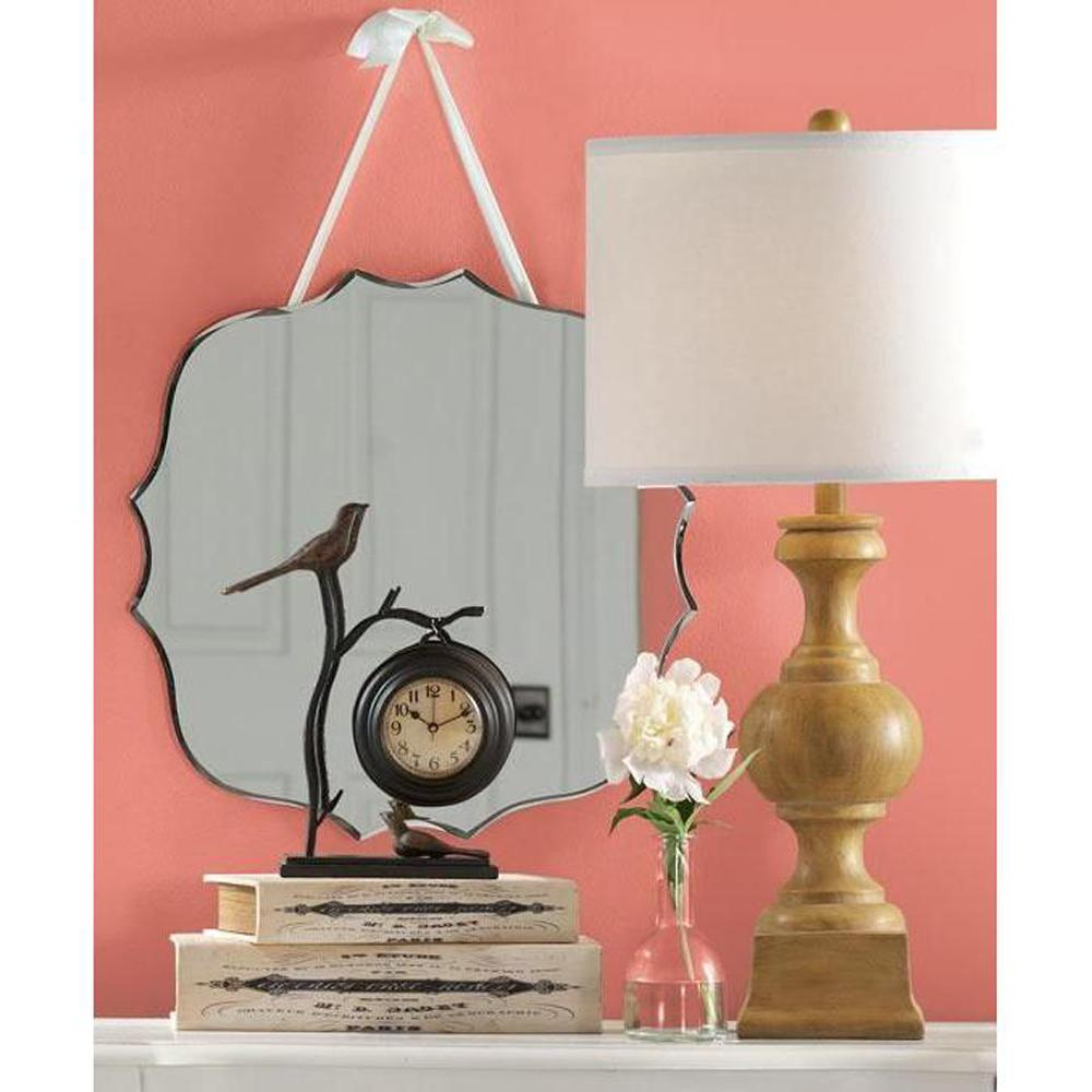 Home Decorators Collection 19 in. x 19 in. Melodi Silver Wall Mirror
