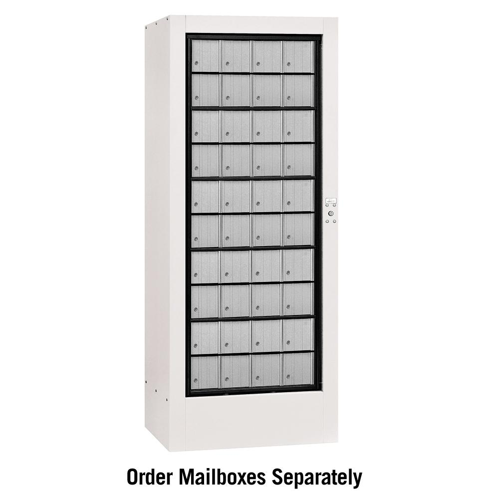 Salsbury Industries 3100 Series USPS Aluminum Style Rotary Mail Center in White