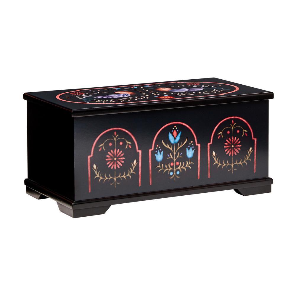 Marley Black Wooden Jewelry Box