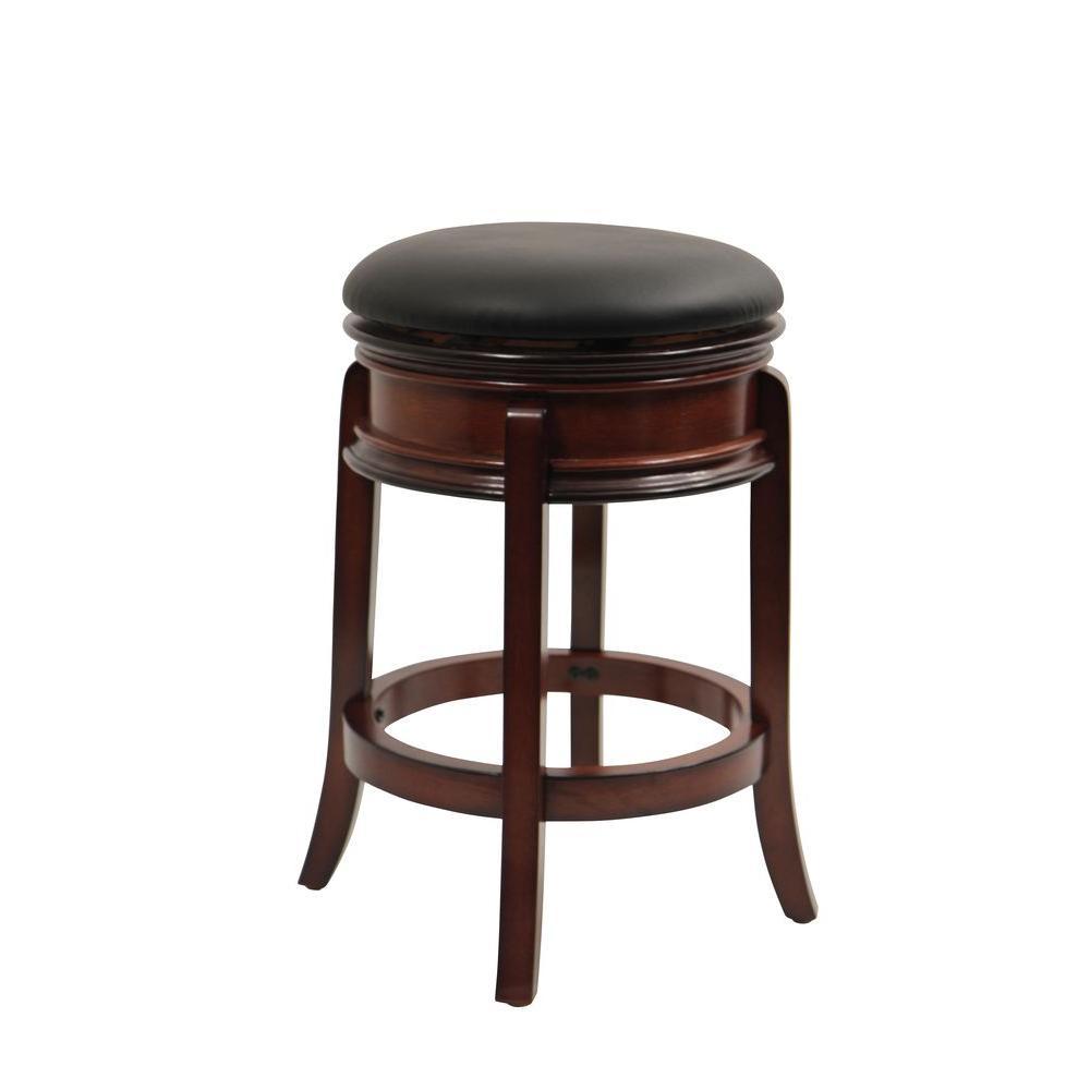 Magellan 24 in. Brandy Swivel Cushioned Bar Stool