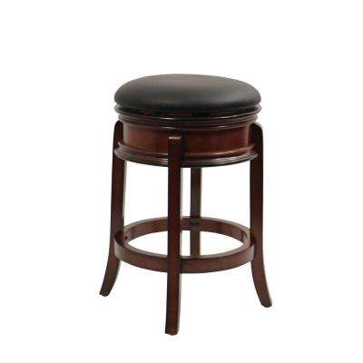 Magellan 24 in. Brandy Swivel Cushioned Bar Stool