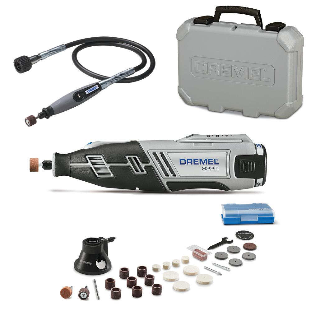Dremel 36 in. Flex-Shaft Attachment - Rotary Tools + 8220 Series 12-V MAX Lithium-Ion Variable Speed Cordless Rotary (Tool Kit) - 22501+82201/28