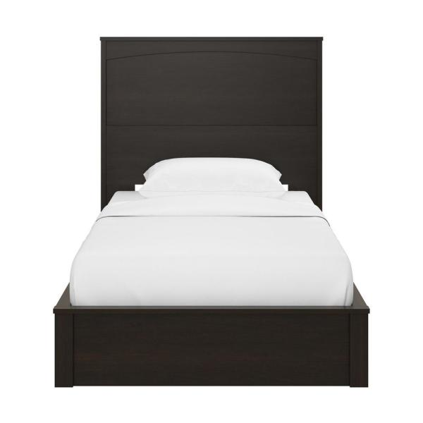 Ameriwood Home Crescent Point Espresso Twin Sized Bed and Headboard 5767303COM