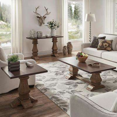 Hatton Distressed Natural Zinc-Top Console