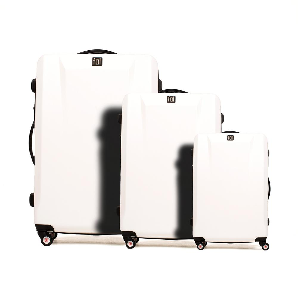 High Loader Series 3-Piece White Spinner Rolling Luggage Set