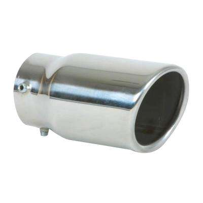 3in Round SS Bolt-On Exhaust Tip (Single Wall Angle Cut Rolled Edge)