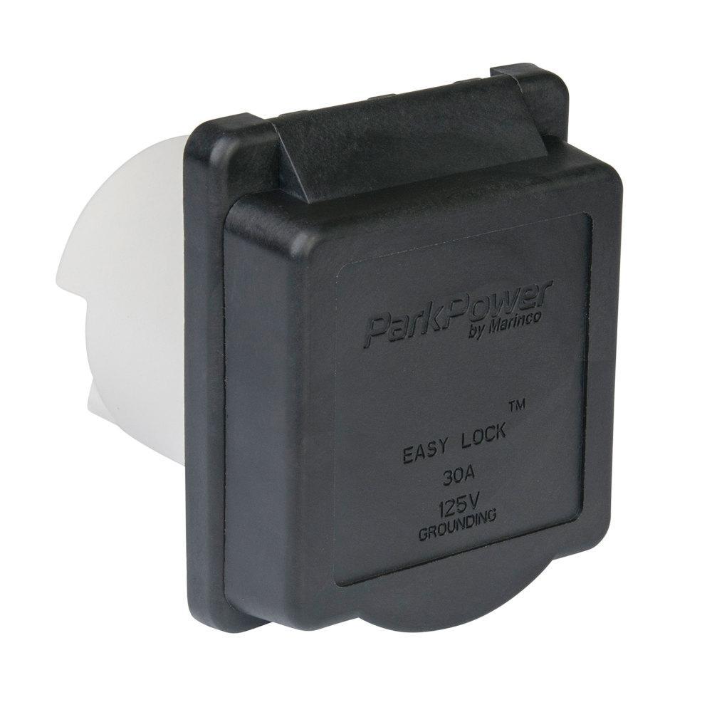 30 Amp Weekender Power Inlet in Black
