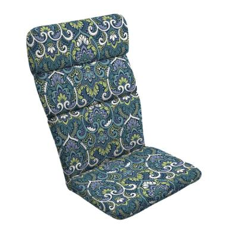 20 in. x 28.5 in. Sapphire Aurora Outdoor Adirondack Chair Cushion