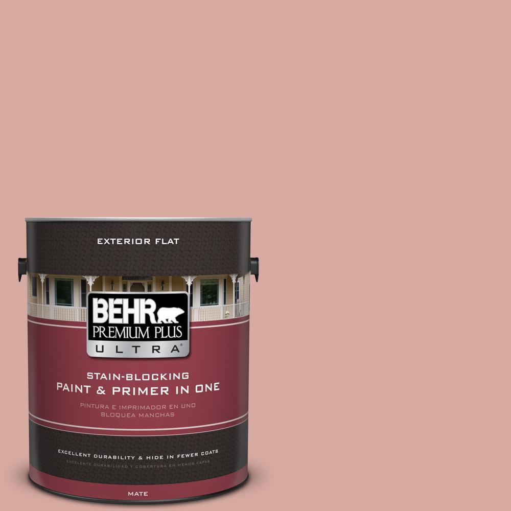 BEHR Premium Plus Ultra 1 gal. #T17-06 Everythings Rosy Flat ...
