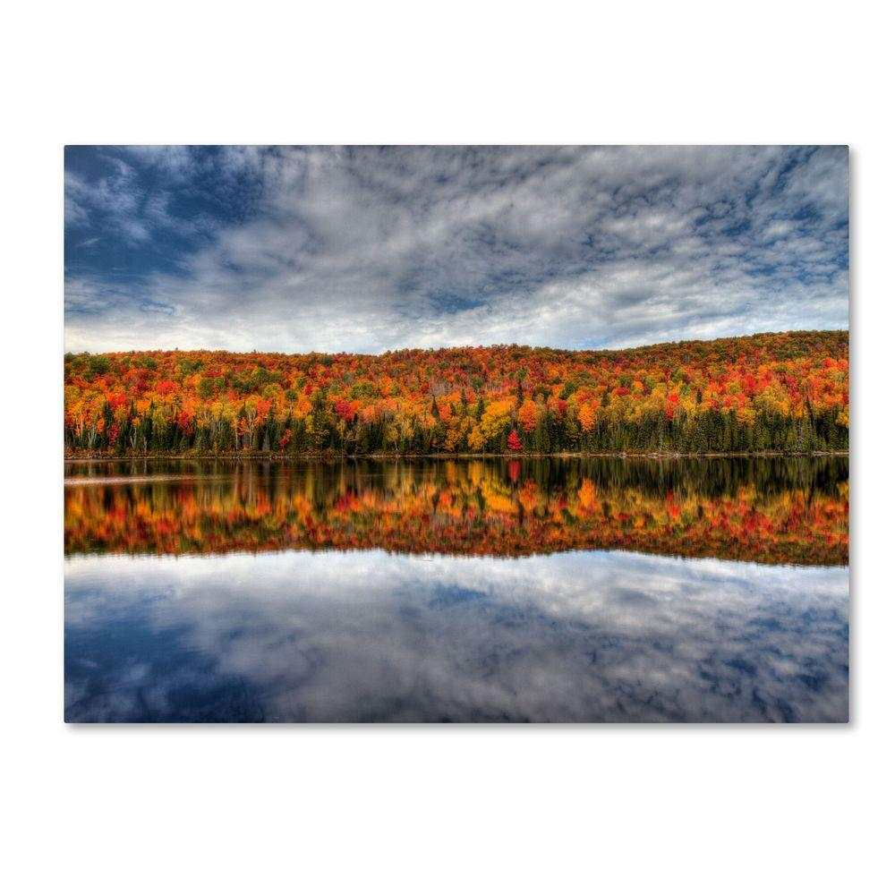 14 in. x 19 in. Autumn Reflection Canvas Art