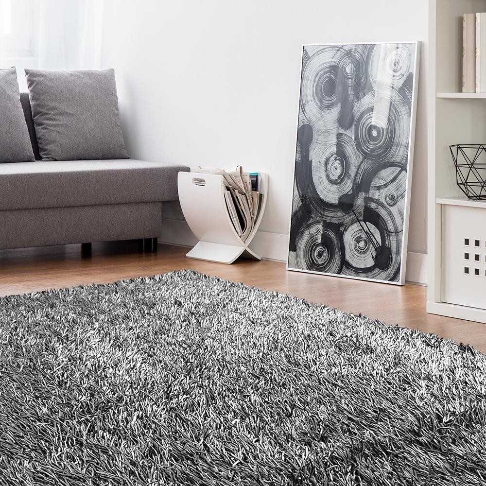 Lanart Electric Ave Silver 9 ft. x 12 ft. Area Rug