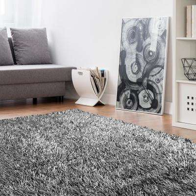 Electric Ave Silver 9 ft. x 12 ft. Area Rug