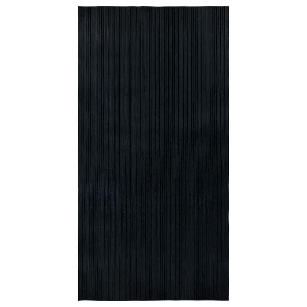 Dirt Off Black Multi-Purpose 20 in. x 39 in. Anti-Slip Indoor/Outdoor Rubber Mat