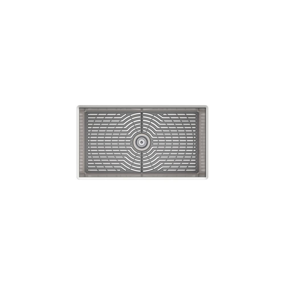 Ludington Undermount Stainless Steel 32 in. Single Bowl Kitchen Sink Kit