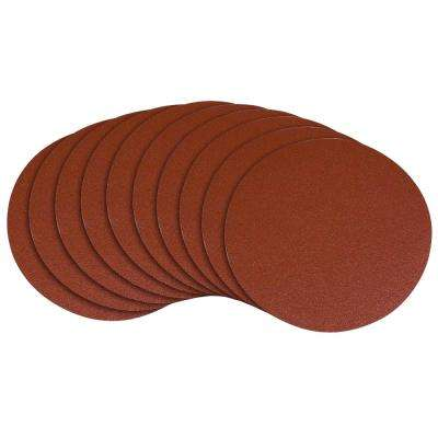 12 in. 80 Grit PSA Aluminum Oxide Self Stick Sanding Disc (10-Pack)